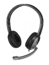 Полноразмерная стерео гарнитура SmartBuy® FIGHTER, рег.громкости, кабель 2.5м