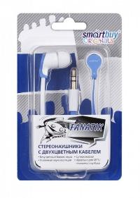 Внутриканальные стерео наушники SmartBuy® FANATIK белый/синий