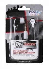 Внутриканальные стерео наушники SmartBuy® FANATIK черный/белый