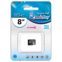 MicroSD 8Gb Smart Buy Сlass 10 (без адаптеров)
