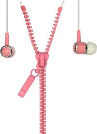 Внутриканальные стерео наушники SmartBuy® TRACER провод в виде молнии розовые