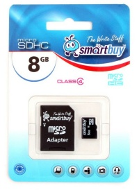 MicroSD 8Gb Smart Buy Сlass 4 (с адаптером SD)