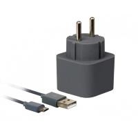 Сетевое ЗУ SmartBuy® VOLT Combo, 3.1 A, 2хUSB + кабель MicroUSB, графит (SBP-2250)