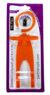 Держатель универсальный Mr.Flex, силиконовый, гибкий, оранжевый