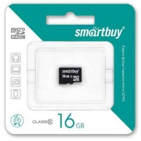 MicroSDHC 16GB Smart Buy Сlass 10 (без адаптера)