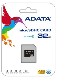 MicroSDHC 32Gb A-DATA Class 4 (без адаптера)
