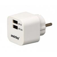 Сетевое ЗУ SmartBuy® VOLT, 3.1 A, 2хUSB, цвет белый (SBP-2100)