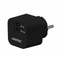 Сетевое ЗУ SmartBuy® VOLT, 3.1 A, 2хUSB, цвет черный (SBP-2000)