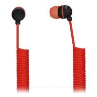 Внутриканальные наушники SmartBuy® U.F.O. растягивающийся кабель красные