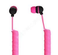 Внутриканальные наушники SmartBuy® U.F.O. растягивающийся кабель розовые