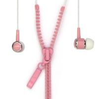 Внутриканальные стерео наушники SmartBuy® ZZIP провод в виде молнии розовые