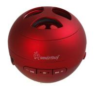 Портативная колонка SmartBuy® WASP красная MP3 плеер чтение USB/MicroSD  аккумулятор резонатор